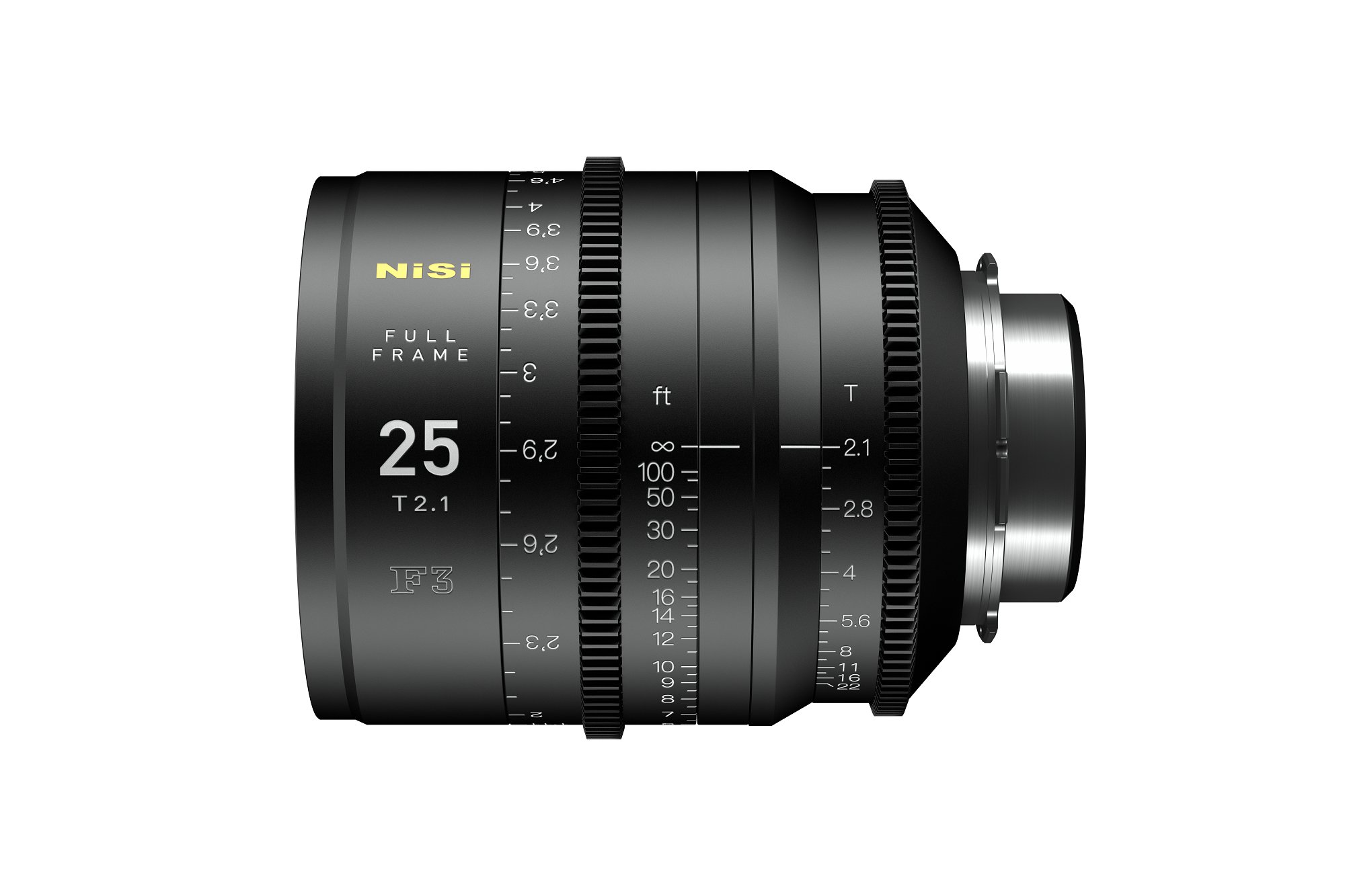 Nisi F3 25mm Full Frame lens T2.1 | MTF Services